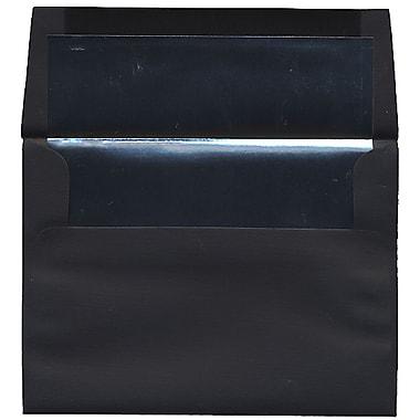 JAM Paper – Enveloppes A7 en papier recyclé à revers argenté/noir, 50/paquet