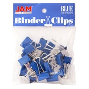 JAM Paper Small 19mm Binder Clips, Blue, 25/Pack