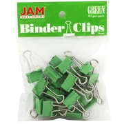 JAM Paper Small 19mm Binder Clips, Green, 25/Pack
