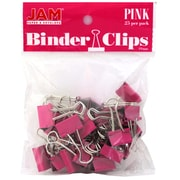 JAM Paper Small 19mm Binder Clips, Pink, 25/Pack