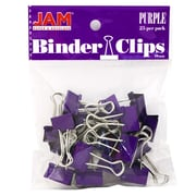 JAM Paper® Binder Clips, Small, 19mm, Purple Binderclips, 25/pack (334BCPU)