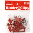 JAM Paper Small 19mm Binder Clips, Red, 25/Pack