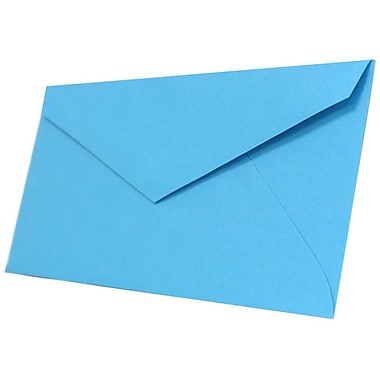 JAM Paper® Monarch Envelopes, 3.88 x 7.5, Brite Hue Blue Recycled, 500/Pack (34097574H)