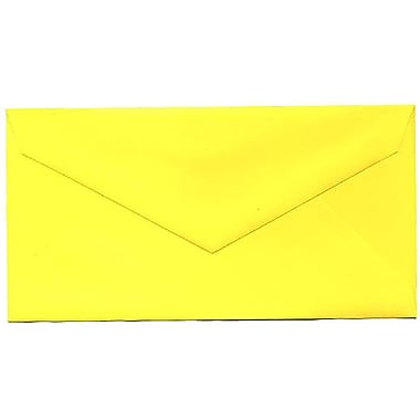 JAM Paper® Monarch Envelopes, 3.88 x 7.5, Brite Hue Yellow Recycled, 500/Pack (34097577H)