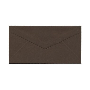 JAM Paper® Monarch Envelopes, 3.88 x 7.5, Chocolate Brown Recycled, 500/Pack (34097602H)