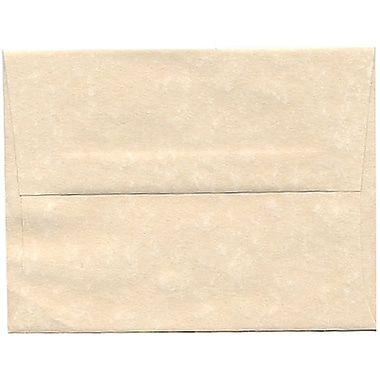 JAM Paper® A2 Invitation Envelopes, 4.38 x 5.75, Parchment Natural Recycled, 250/Pack (34777H)
