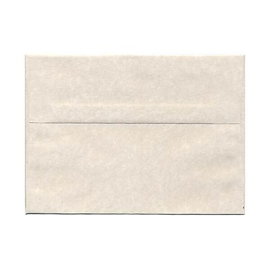 JAM Paper® A7 Invitation Envelopes, 5.25 x 7.25, Parchment Pewter Grey Recycled, 250/Pack (35061H)