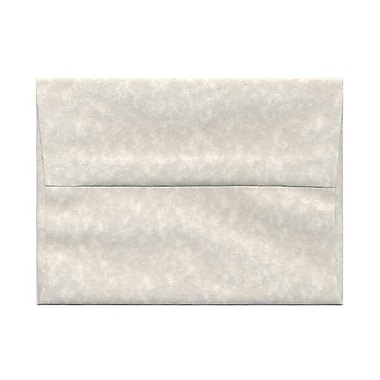 JAM Paper® A6 Invitation Envelopes, 4.75 x 6.5, Parchment Pewter Grey Recycled, 250/Pack (35170H)