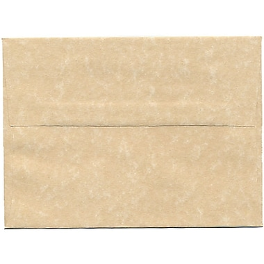 JAM Paper® A6 Invitation Envelopes, 4.75 x 6.5, Parchment Brown Recycled, 250/Pack (35220H)