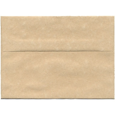 JAM Paper® A7 Invitation Envelopes, 5.25 x 7.25, Parchment Brown Recycled, 250/Pack (35311H)