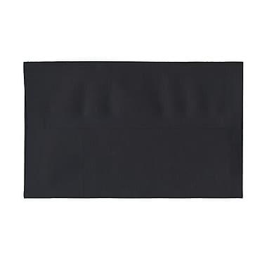 JAM Paper® A10 Invitation Envelopes, 6 x 9.5, Black Linen Recycled , 250/Pack (36168H)
