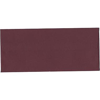 JAM Paper – Enveloppes simples en papier brut nº 10 (4,13 x 9,5 po), bourgogne, paquet de 500