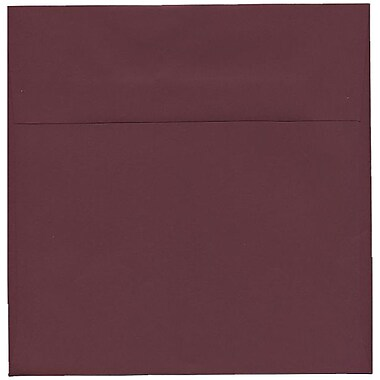JAM Paper – Enveloppes simples, 8,5 x 8,5 po, bourgogne foncé, 250/paquet
