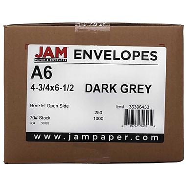 JAM PaperMD – Enveloppes format A6 à base riche, gris foncé, paq./250