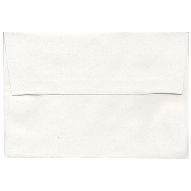 JAM Paper® A8 Invitation Envelopes, 5.5 x 8.125, Talc White Recycled, 250/Pack (36670H)