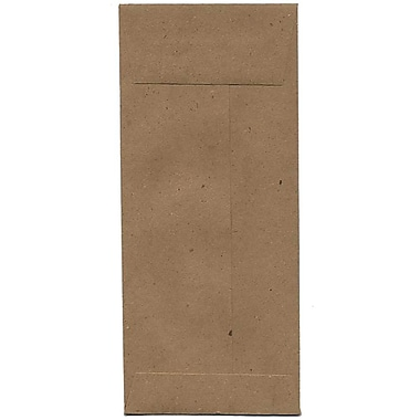 JAM Paper® #10 Policy Envelopes, 4 1/8 x 9.5, Brown Kraft Paper Bag Recycled, 500/Pack (3965615H)