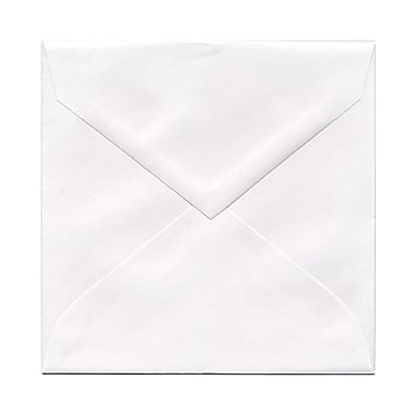 JAM Paper® 5.75 x 5.75 Square Envelopes, White with V-Flap, 250/Pack (3994896H)