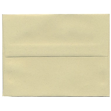 JAM Paper® A2 Invitation Envelopes, 4.38 x 5.75, Gypsum Recycled, 250/Pack (41338H)