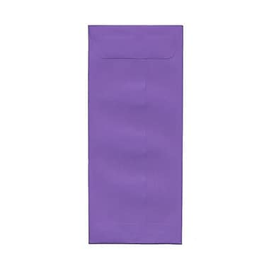 JAM Paper® #12 Policy Envelopes, 4.75 x 11, Brite Hue Violet Purple Recycled, 500/Pack (4156910H)