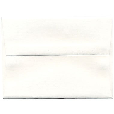 JAM Paper® A6 Invitation Envelopes, 4.75 x 6.5, Strathmore Bright White Pinstripe Recycled, 250/Pack (43419H)