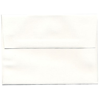 JAM Paper® A7 Invitation Envelopes, 5.25 x 7.25, Strathmore Bright White Pinstripe Recycled, 250/Pack (43420H)