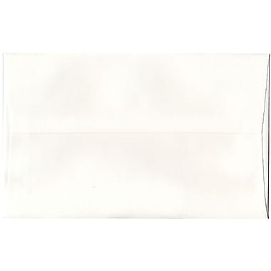 JAM Paper® A10 Invitation Envelopes, 6 x 9.5, Strathmore Bright White Pinstripe Recycled, 250/Pack (43424H)