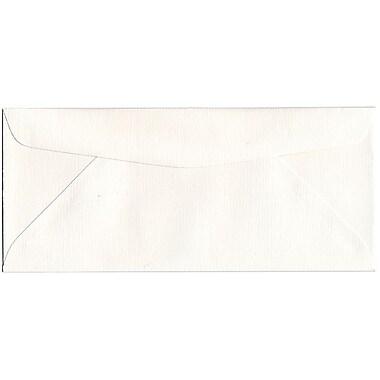 JAM Paper – Enveloppes en papier recyclé Strathmore nº 10 (4,13 x 9,5 po) à rayures fines, blanc lumineux, boîte de 500