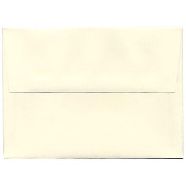 JAM Paper® A7 Invitation Envelopes, 5.25 x 7.25, Strathmore Natural White Pinstripe, 250/Pack (43437H)