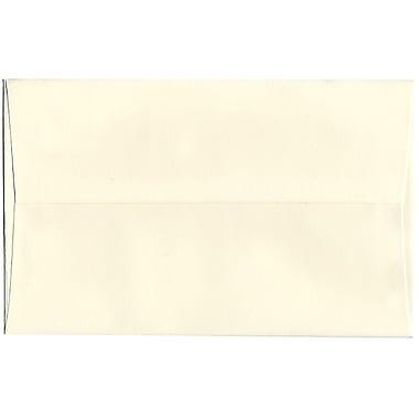 JAM Paper – Enveloppes recyclées Strathmore A10, blanc naturel, 250/paquet
