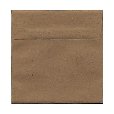 JAM Paper – Enveloppes recyclées de 5,5 x 5,5 po, papier Kraft brun, 50/paquet