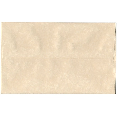 JAM Paper® A10 Invitation Envelopes, 6 x 9.5, Parchment Natural Recycled, 250/Pack (47876H)