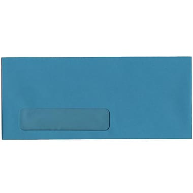 JAM Paper® #10 Window Envelopes, 4 1/8 x 9.5, Brite Hue Sea Blue Recycled, 500/Pack (5156478H)