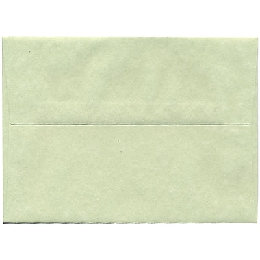 JAM Paper® A7 Invitation Envelopes, 5.25 x 7.25, Parchment Green Recycled, 250/Pack (519H)