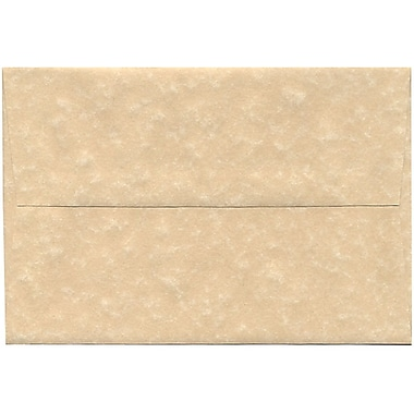 JAM Paper® A8 Invitation Envelopes, 5.5 x 8.125, Parchment Brown Recycled, 250/Pack (52066H)