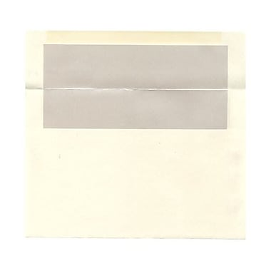 JAM Paper® A9 Foil Lined Envelopes, 5.75 x 8.75, Ivory with Ivory Lining, 250/Pack (532412544H)