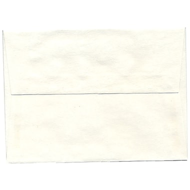 JAM Paper® A6 Invitation Envelopes, 4.75 x 6.5, Parchment White Recycled, 250/Pack (56309H)
