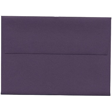 JAM Paper® 4bar A1 Envelopes, 3.63 x 5 1/8, Dark Purple, 250/Pack (563912502H)