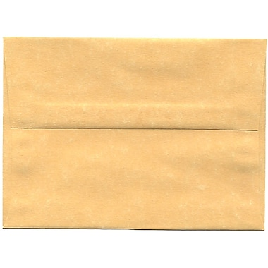 JAM Paper® A6 Invitation Envelopes, 4.75 x 6.5, Parchment Antique Gold Yellow Recycled, 250/Pack (56721H)