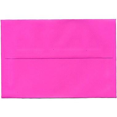 JAM Paper – Enveloppes de couleur vive A8 en papier recyclé fuchsia intense, 250/paquet