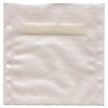 JAM PaperMD – Enveloppes carrées translucides, 5,5 po, platine, 50/paquet