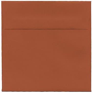JAM Paper – Enveloppes simples carrées, 6 x 6 po, orange foncé, 50/paquet