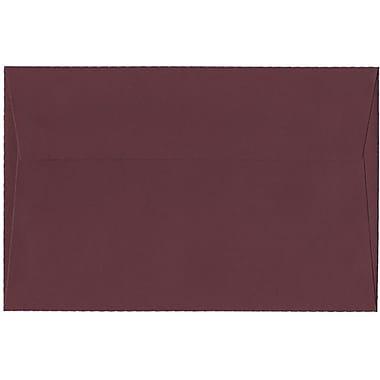 JAM Paper – Enveloppes Stardream A9, effet métallisé, bourgogne, 250/paquet