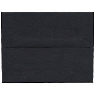 JAM Paper® A2 Invitation Envelopes, 4.38 x 5.75, Black Linen Recycled, 250/Pack (64345H)