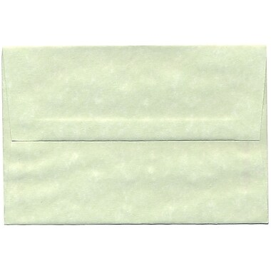 JAM Paper® A8 Invitation Envelopes, 5.5 x 8.125, Parchment Green Recycled, 250/Pack (66053H)