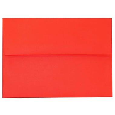 JAM PaperMD – Enveloppes Brite Hue A6 en papier recyclé, rouge, 250/paquet