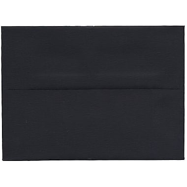 JAM Paper® A6 Invitation Envelopes, 4.75 x 6.5, Black Linen Recycled , 250/Pack (68999H)