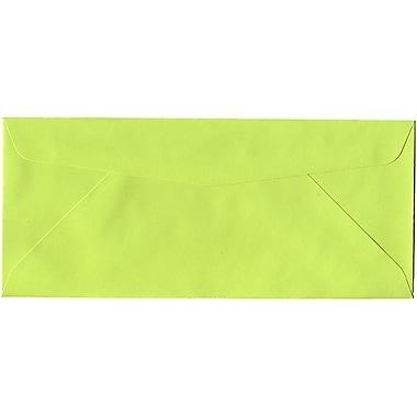 JAM Paper – Enveloppe nº 10 (4,13 po x 9,5 po) nuances vives en papier recyclé, limette, 500/bte