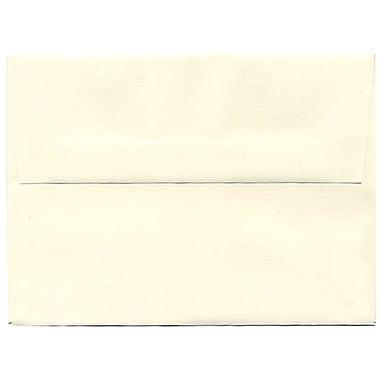JAM Paper – Enveloppes Strathmore A6 en papier recyclé, fini toilé blanc naturel, 250/paquet