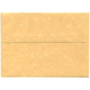 JAM Paper® A7 Invitation Envelopes, 5.25 x 7.25, Parchment Antique Gold Yellow Recycled, 250/Pack (78758H)