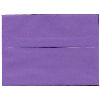 JAM Paper® A6 Invitation Envelopes, 4.75 x 6.5, Brite Hue Violet Purple Recycled, 250/Pack (80260H)